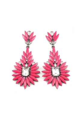 Jezny Earrings in Fuchsia
