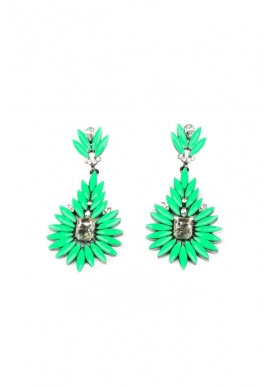 Jezny Earrings in Green