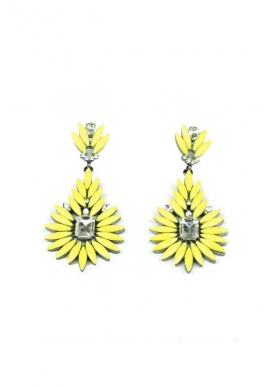 Jezny Earrings in Yellow