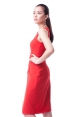Malone Dress In Vermillion