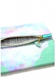 Tie Dye Clutch in Seafoam