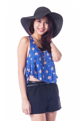 Giselle Crop Top in Blue