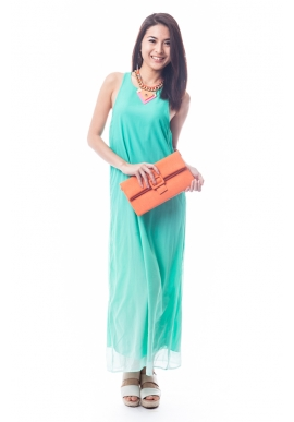 Ombre Maxi Dress in Green
