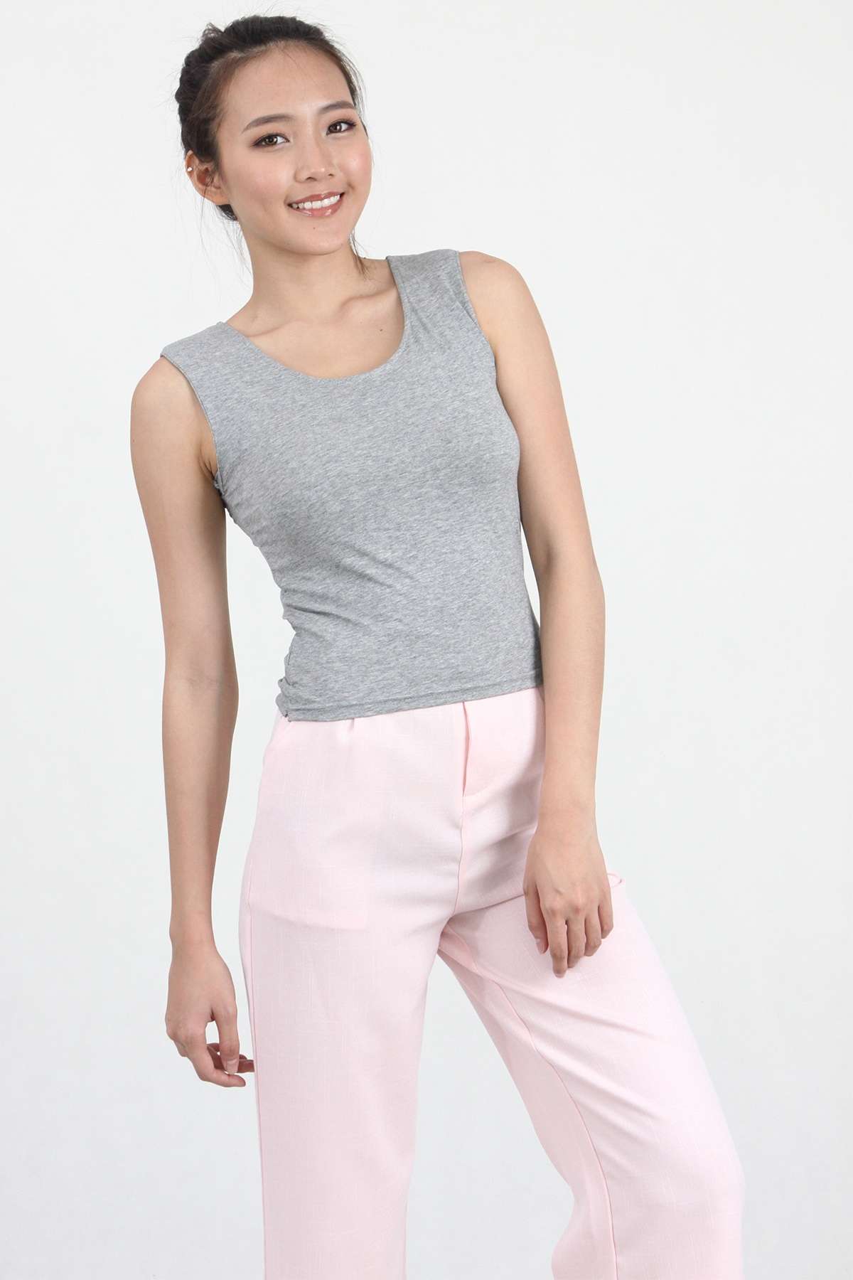 Bow Back Tank in Grey