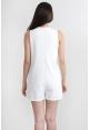 Layer Vest Romper in White