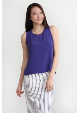 Camille Chiffon Top in Purple