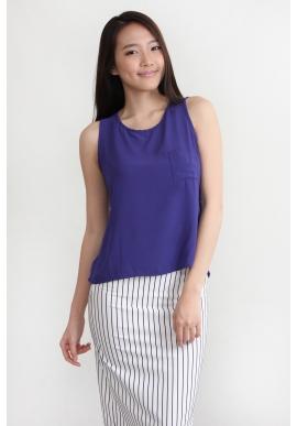 Camille Chiffon Top in Purple