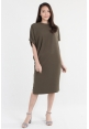 Asymmetrical Shift Dress in Olive