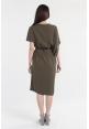 Asymmetrical Shift Dress in Olive