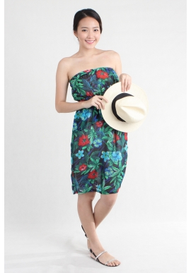 Panama Palm Bandeau Dress