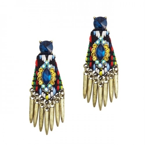 Woven Jewel Earrings