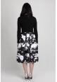 Paint Splatter Midi Skirt