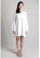 Bell Sleeve Dress in White