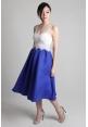 Cobalt Pleated Midi Skirt