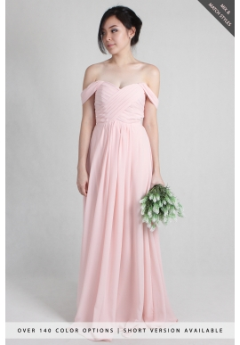 Leah Off Shoulder Chiffon Dress