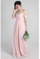 Leah Off Shoulder Chiffon Dress in Maxi