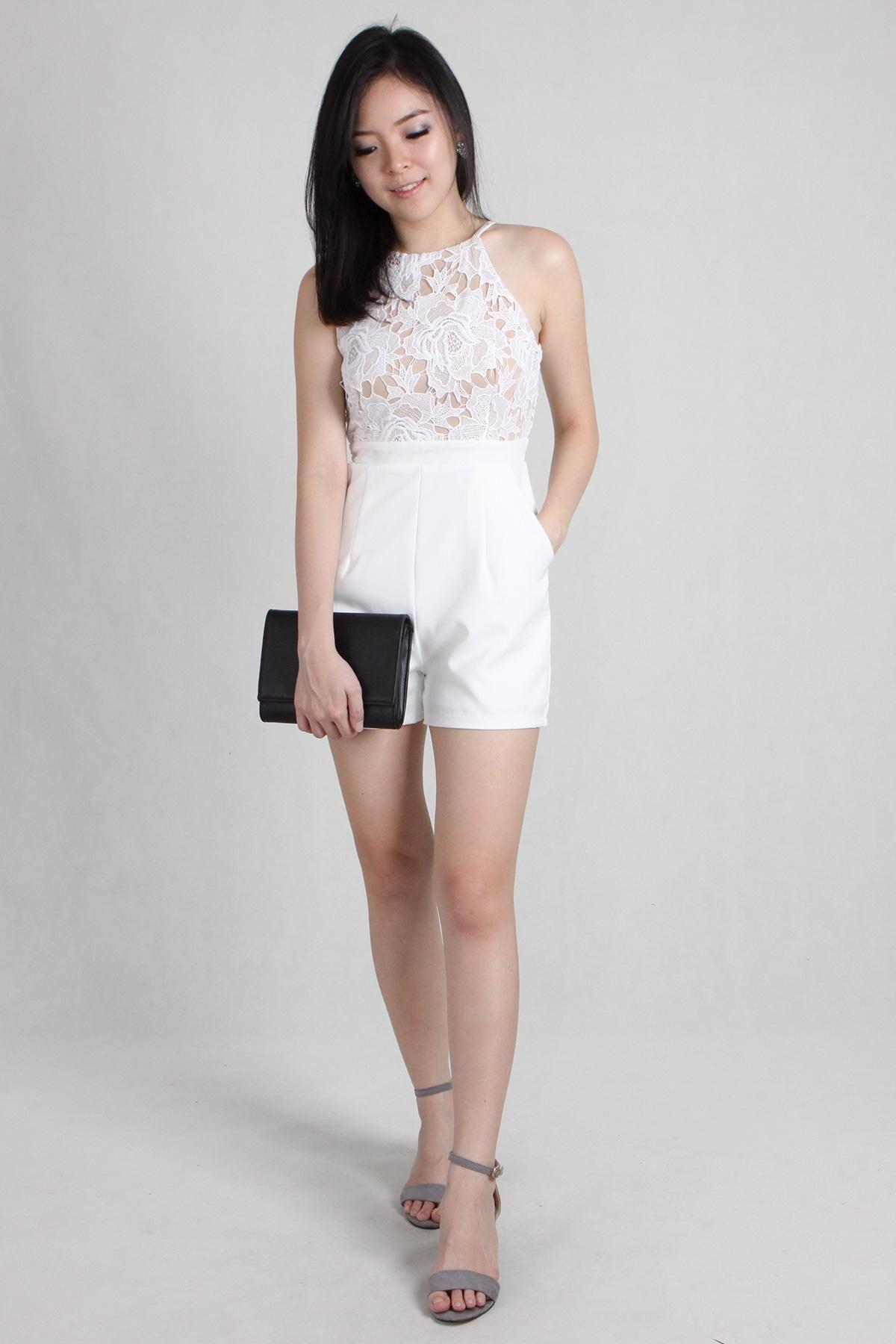 cc00b57473c Tulla Lace Romper in White - PS Curate