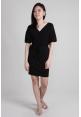 Portia Wrap Dress in Black