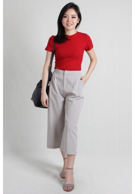 Jones Wide Leg Culottes in Grey