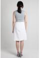 Wrap Asymmetric Skirt in White