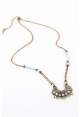 Turquoise Mother of Pearl Drop Necklace