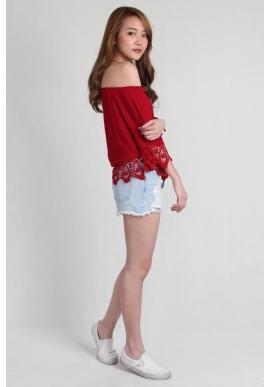 Tassel Crochet Offsie in Red
