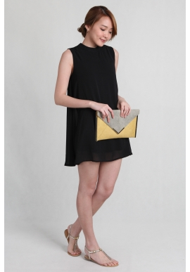 (Petite) Easy Swing Dress in Black