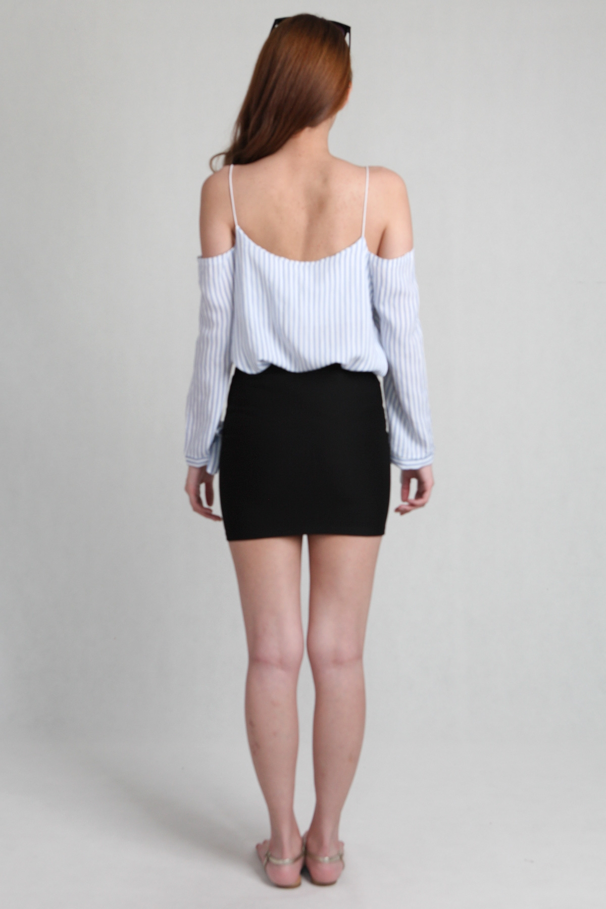 Basic Mini Skirt in Black - PS Curate