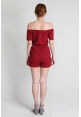 Tassel Offsie Playsuit in Red