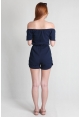 Tassel Offsie Playsuit in Navy