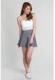 Kendra Knit Flare Mini in Grey
