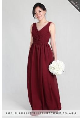 Blake V-Neck Chiffon Dress