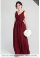 Blake V-Neck Chiffon Dress