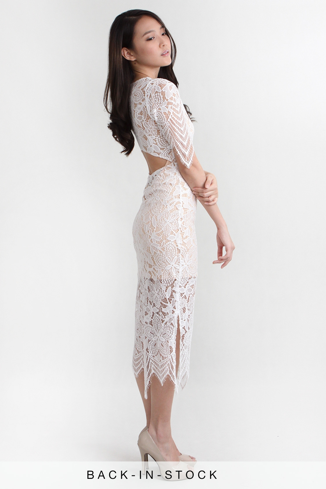 Lana Lace Midi Dress