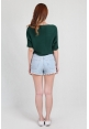 Batwing Knit Top in Jade