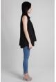 Basic Sleeveless Vest in Black