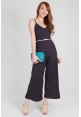 Sleek Knit Jumpsuit in Charcoal