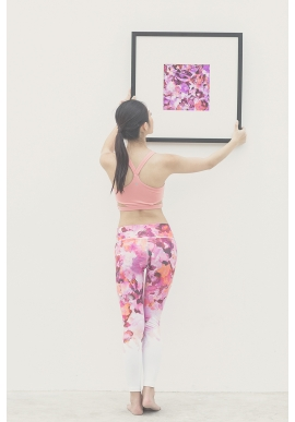 Canvas Leggings in Coral