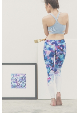 Canvas Leggings in Blue