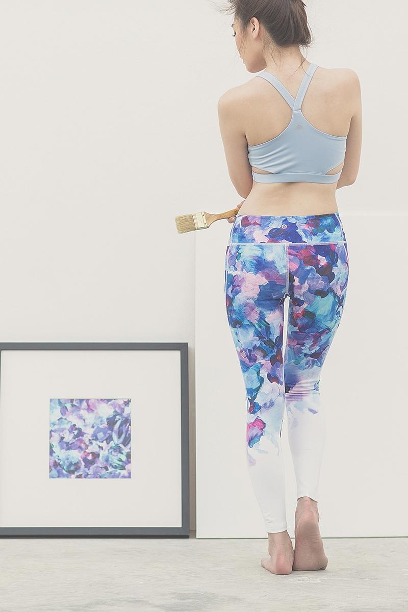 Canvas Leggings in Blue