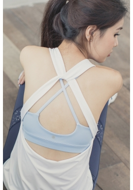 Buzzy Tank in White (attached bra - Preorder)