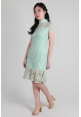 Crochet Lace Cheongsam in Mint