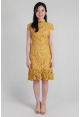 Mermaid Lace Cheongsam in Mustard