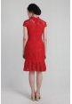 Mermaid Lace Cheongsam in Red