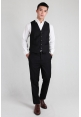 Mens Slim Fit Trousers in Black