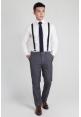 Mens Slim Fit Trousers in Grey