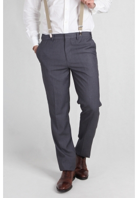 Mens Slim Fit Trousers in Grey