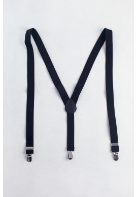 Men's Elastic Suspenders in Black