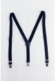 Men's Elastic Suspenders in Navy