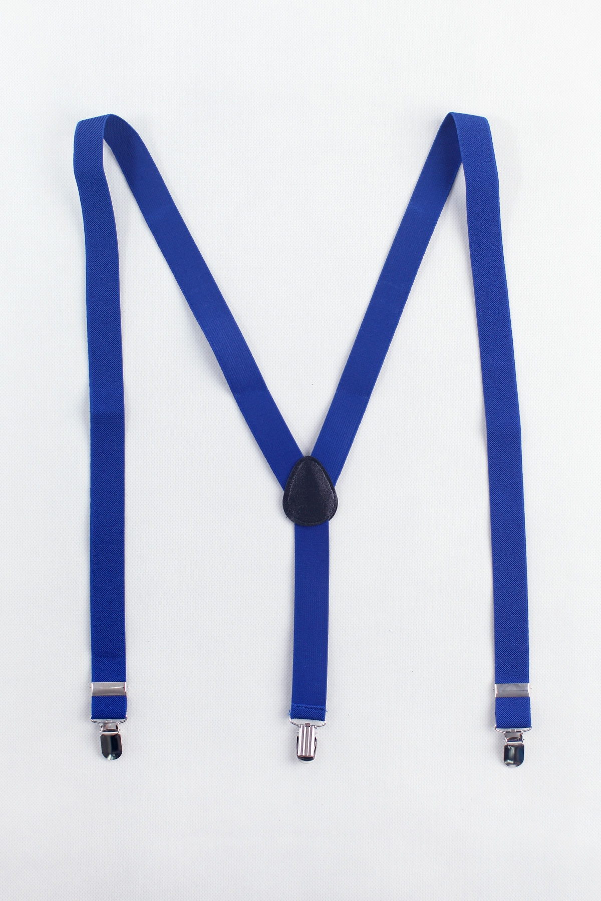 Men's Elastic Suspenders in Blue